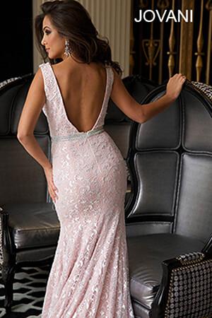 Jovani Powder Blue Lace Prom Dress 22917 House Of Joy
