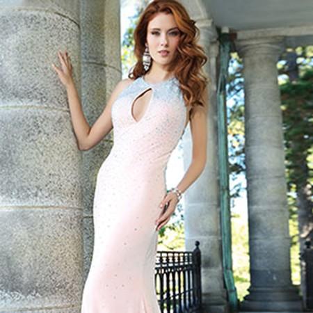 JOvani Blush Sleeveless Jersey Prom Dress 90640 – House of Joy Couture
