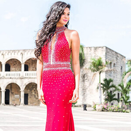 fee35de26adfd Jovani Red Jersey High Neck Prom Dress 22750 – House of Joy Couture