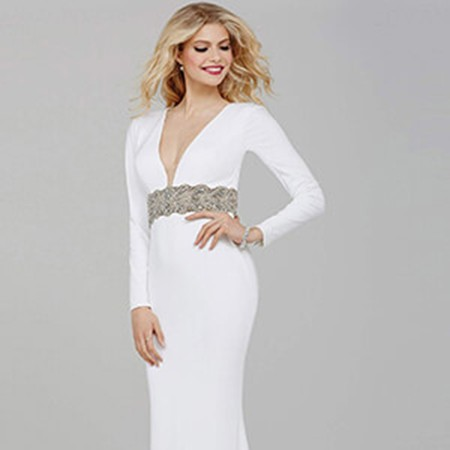 a9dc87a90c6b0 Jovani Off-White Long Sleeve Prom Dress 31059 – House of Joy Couture