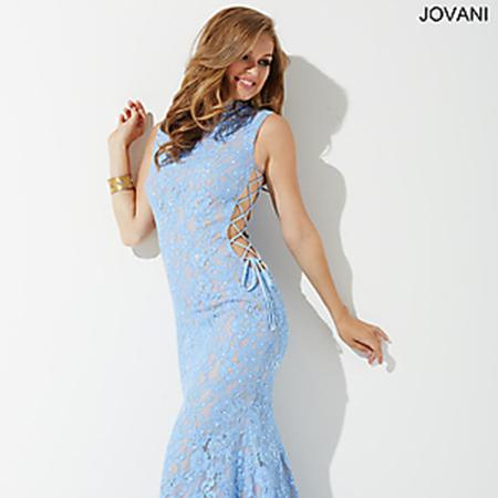 6aebdcb8827fa Jovani Blue Lace Side Corset Prom Dress JP37469 – House of Joy Couture