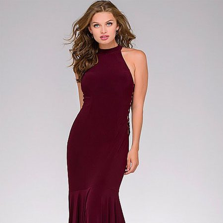 578f1ecc2bb5b JOvani Jersey High Neck Fitted Prom Dress 50487 – House of Joy Couture