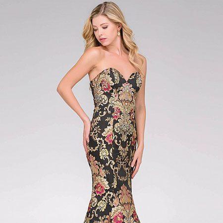 5ed67453dd969 Jovani Black Multi Embroidered Mermaid Prom Dress 48395 – House of Joy  Couture