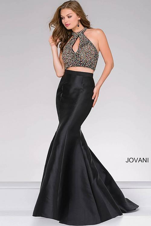 c31eb8f33b11d Jovani Black Multi Two-Piece Mermaid Prom Dress 49912 – House of Joy Couture